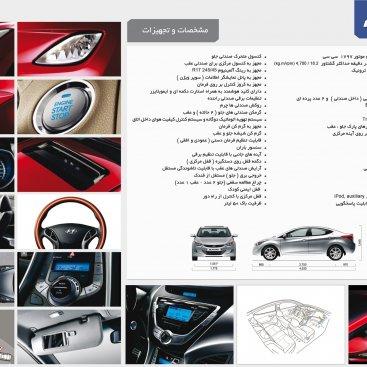 *مشخصات فنی خودرو النترا ۲۰۱۵*